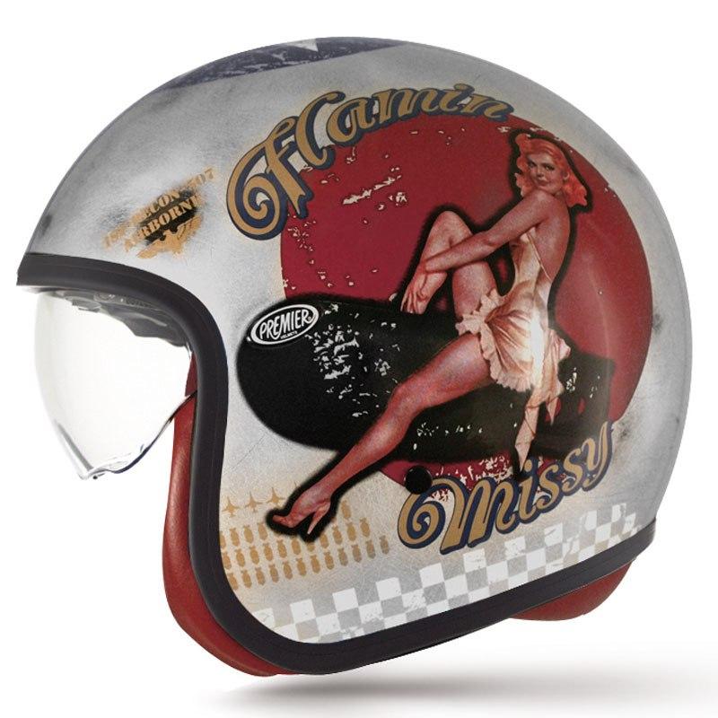 Casque Premier Vintage Pin Up Old Style Equipement Du