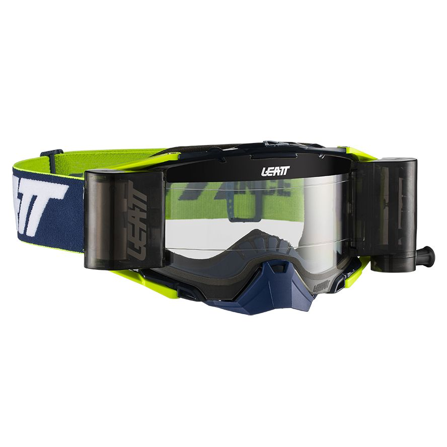 Masque cross Leatt VELOCITY 6.5 ROLL-OFF - BLUE WHITE YELLOW 2020