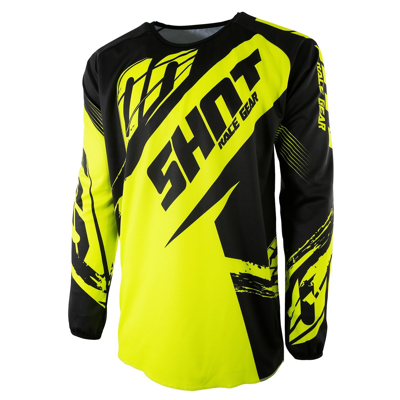 Maillot cross Shot destockage DEVO FAST NEON JAUNE ENFANT