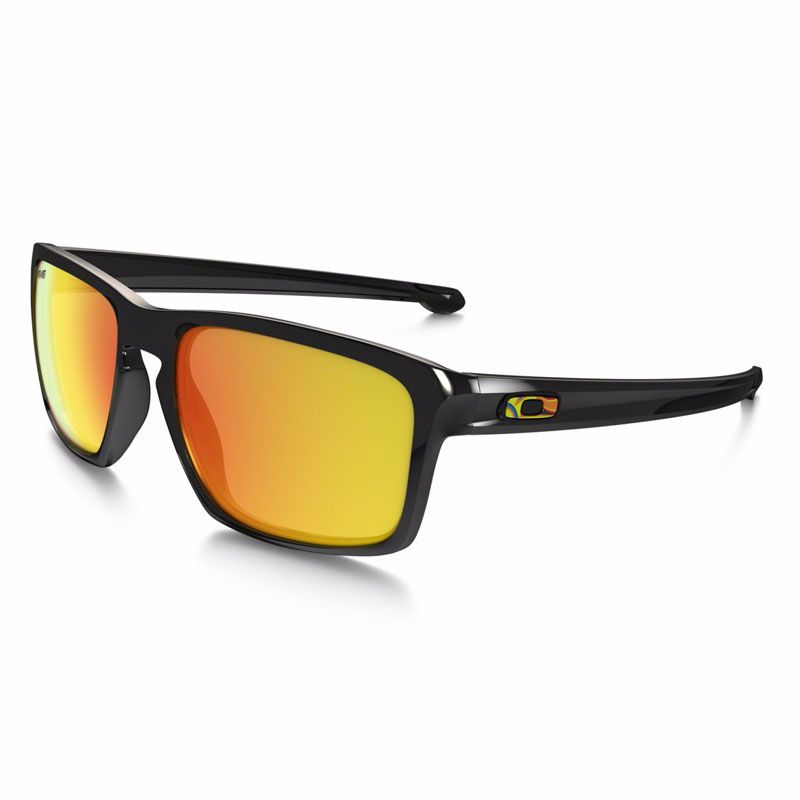 Lunettes de soleil Oakley SLIVER POLISHED BLACK VR46 Valentino Rossi COLLECTION - verres iridium
