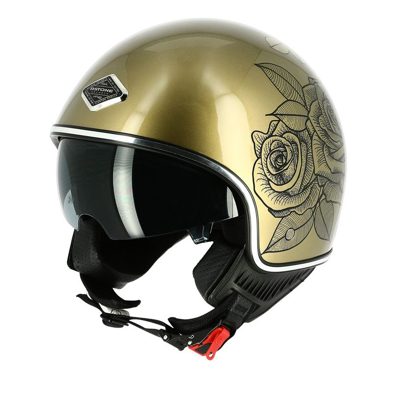Casque Astone MINIJET 66 TATTOO - ROSES
