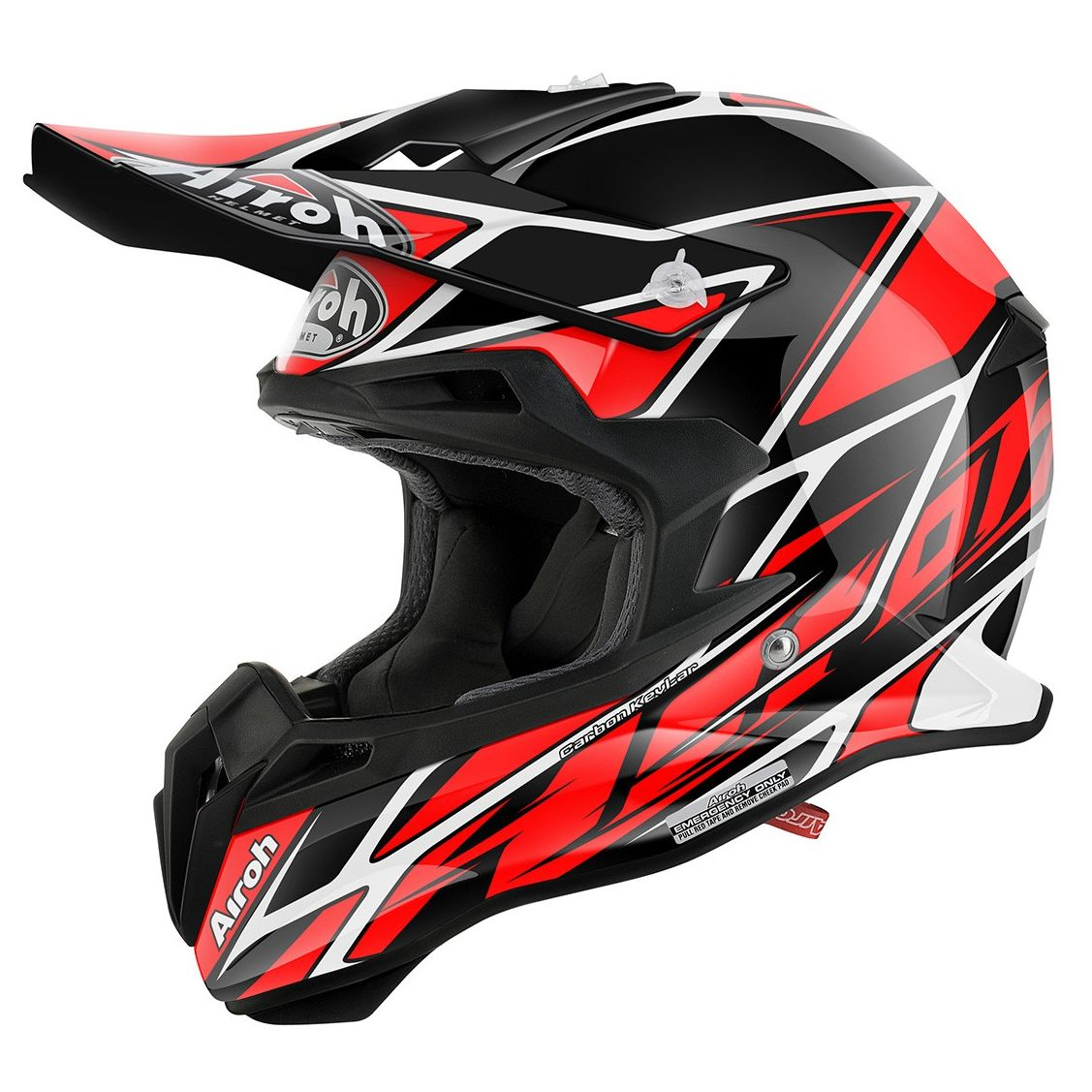 casque cross airoh destockage terminator 2 1 net red 2017 equipement du cross access. Black Bedroom Furniture Sets. Home Design Ideas