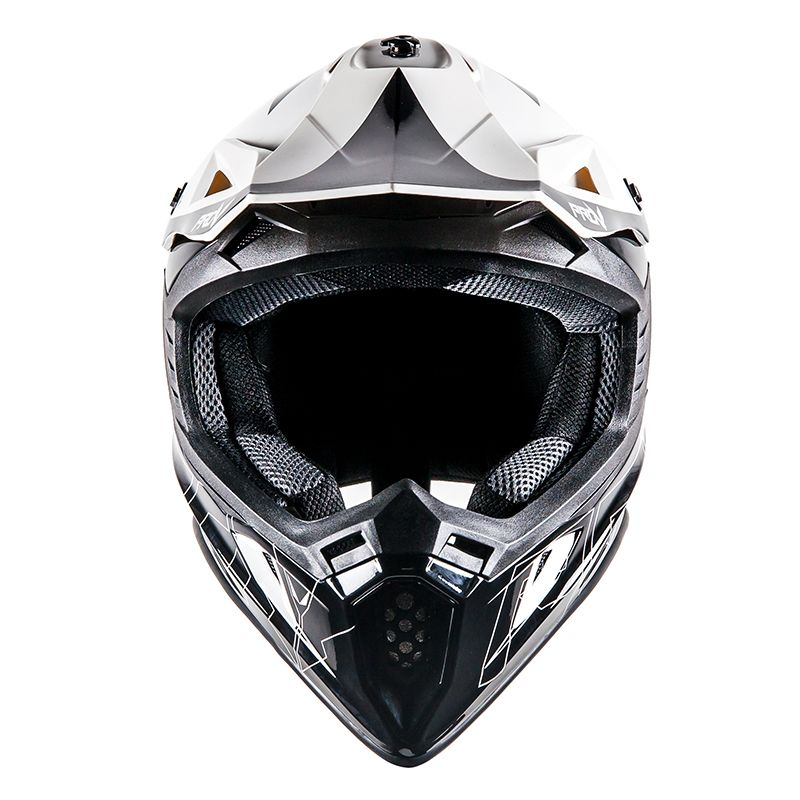 Casque cross Prov SKUD DALLAS BLACK/WHITE