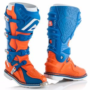 Bottes cross X-MOVE 2.0 - BLEU ORANGE FLUO - 2019 Bleu/Orange