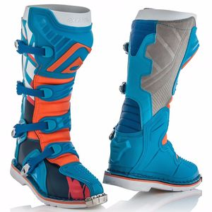 Bottes cross X-PRO V - BLEU ORANGE - 2019 Bleu/Orange