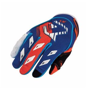 Gants cross MX KID - BLEU / ORANGE FLUO -   Bleu/Orange