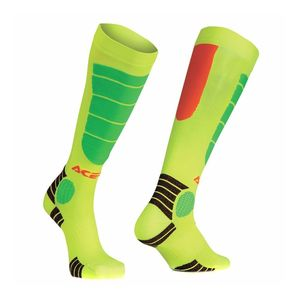 Chaussettes MX IMPACT JUNIOR - ORANGE FLUO / JAUNE FLUO -  Orange/Jaune