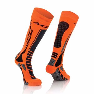 Chaussettes MX-PRO - NOIR / ORANGE FLUO -  Noir/Orange