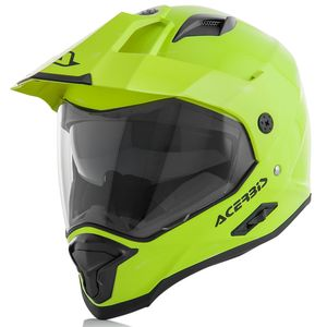 Casque cross REACTIVE - JAUNE FLUO -  Jaune