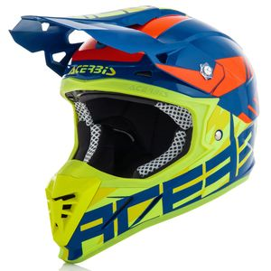 Casque Cross Acerbis Profile 3.0 S - Bleu Jaune Fluo - 2019