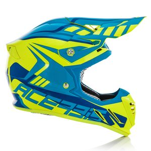 Casque Cross Acerbis Profile 3.0 S - Jaune Fluo Bleu - 2019