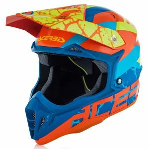 Casque Cross Acerbis Impact 3.0 - Orange Fluo Bleu - 2018