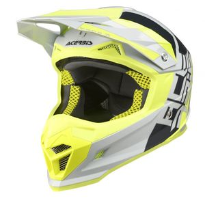 Casque Cross Acerbis Profile 4 - Gris Jaune - 2019