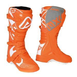 Bottes cross X-TEAM ORANGE WHITE 2020 Orange/Blanc