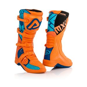 Bottes Cross Acerbis X-team - Orange/bleu - 2019