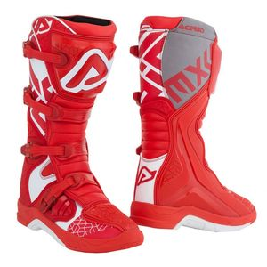 Bottes cross X-TEAM RED WHITE 2020 Rouge/Blanc