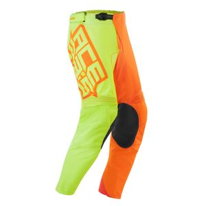 Pantalon cross LTD ECLIPSE -JAUNE/ORANGE- 2019 Jaune fluo/Orange fluo