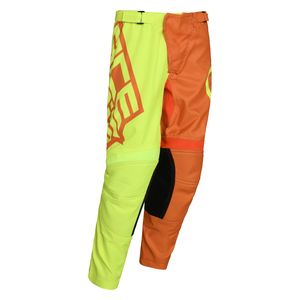 Pantalon cross LTD ECLIPSE -JAUNE/ORANGE- ENFANT -  Jaune fluo/Orange fluo