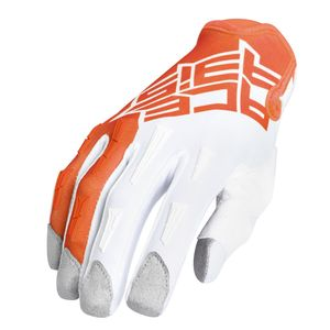 Gants Cross Acerbis Mx X-p - Orange/blanc - 2019