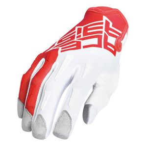Gants Cross Acerbis Mx X-k - Blanc/rouge- Enfant - 2019