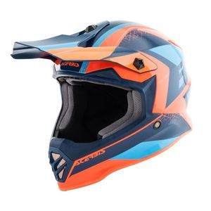 Casque Cross Acerbis Steel -orange Bleu- Enfant- 2019