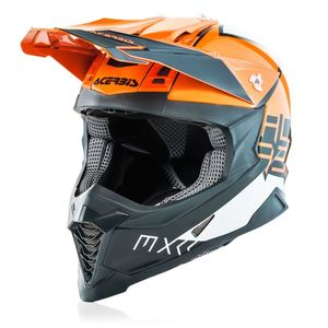 Casque Cross Acerbis X-racer Vtr Orange/gris 2019