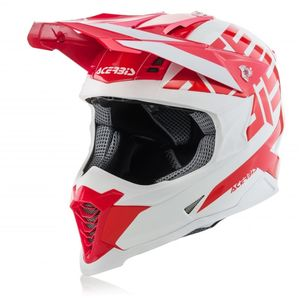 Casque Cross Acerbis Reactive Graffix - Rouge/blanc - 2019
