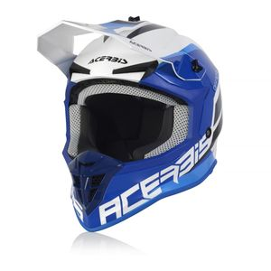 Casque cross LINEAR WHITE/BLUE 2021 Blanc/Bleu