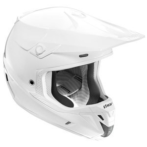 Casque cross VERGE SOLID - BLANC -  2018 Blanc