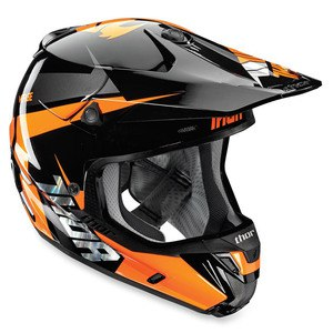 Casque Cross Thor Déstockage Verge Rebound - Noir Orange 2017