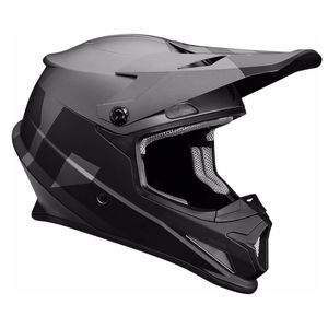 Casque Cross Thor Sector - Level - Mat Noir Gris - 2019