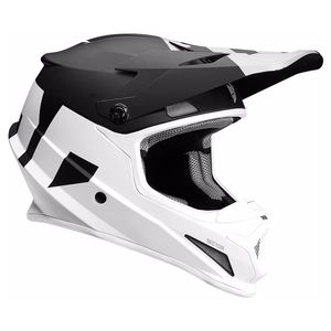Casque cross SECTOR - LEVEL - MAT NOIR BLANC - 2019 Noir/Blanc