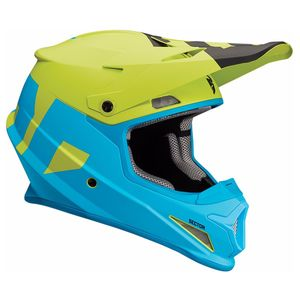 Casque cross SECTOR - LEVEL - MAT BLEU VERT - 2019 Bleu/Vert
