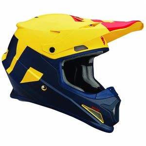 Casque cross SECTOR - LEVEL - MAT BLEU JAUNE - 2019 Bleu/Jaune