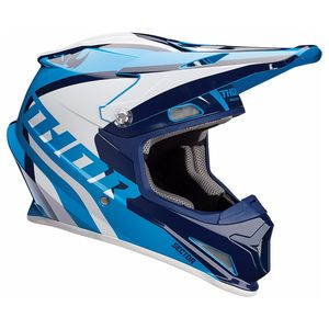 Casque Cross Thor Sector - Ricochet - Bleu - 2019