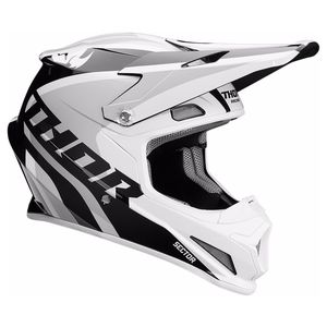Casque Cross Thor Sector - Ricochet - Blanc Gris - 2019
