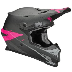 Casque cross SECTOR HYPE CHARCOAL PINK ENFANT  Gris/Rose