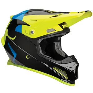 Casque cross SECTOR SHEAR BLACK ACID 2019 Noir/Jaune