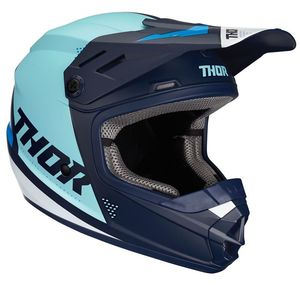 Casque cross YOUTH SECTOR - BLADE - NAVY BLUE  Blue