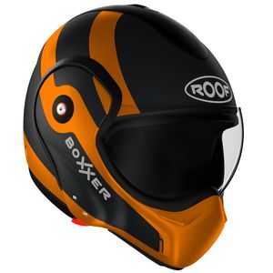 Casque RO9 BOXXER FUZO - NOIR ORANGE MAT  Noir/Orange mat
