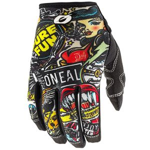 Gants cross MAYHEM YOUTH - CRANK - MULTICOLORE  Black