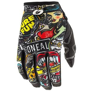 Gants cross MAYHEM - CRANK II - MULTICOLORE 2020 Black