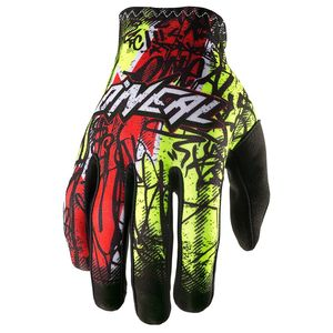 Gants Cross O'neal Matrix Vandal - Jaune Fluo Rouge - 2018