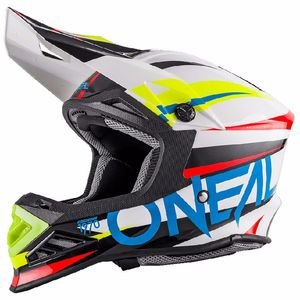 Casque cross 8 SERIES - AGGRESSOR - WHITE BLUE MAT 2019 White/blue