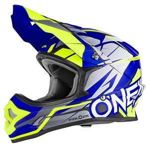Casque cross 3 SERIES - FREERIDER FIDLOCK - BLUE HI-VIZ YELLOW 2019 Bleu/Jaune fluo