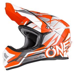 Casque cross 3 SERIES - FREERIDER FIDLOCK - ORANGE GRAY MATT 2019 Grey/orange