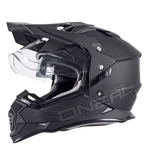 Casque cross SIERRA II - FLAT - BLACK MAT  Noir
