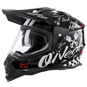 Casque cross SIERRA II - TORMENT - BLACK WHITE MATT  Noir/Blanc