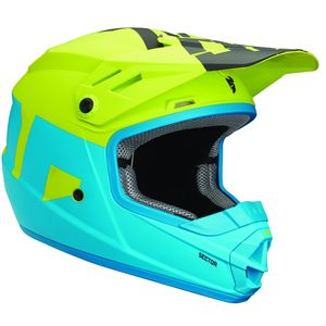 Casque Cross Thor Youth Sector Level - Bleu Vert - 2019