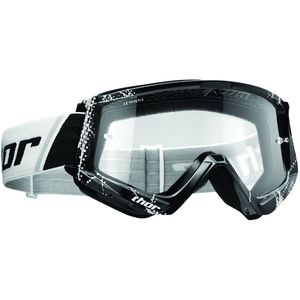 Masque cross YOUTH COMBAT WEB - BLACK  Noir/Blanc